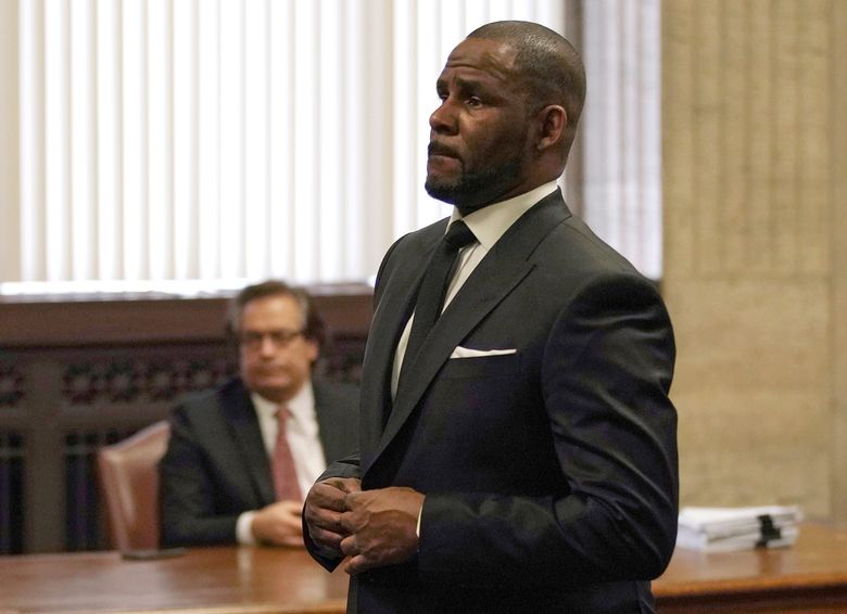 FILE – In this Friday, March 22, 2019 file photo, R. Kelly appears for a hearing at the Leighton Criminal Court Building in Chicago, Illinois. Dubai's government on Sunday forcefully denied a claim by R&B singer R. Kelly that the artist had planned concerts in the sheikhdom after he had sought permission from an Illinois judge to travel here despite facing sexual-abuse charges. (E. Jason Wambsgans/Chicago Tribune via AP, Pool, File)