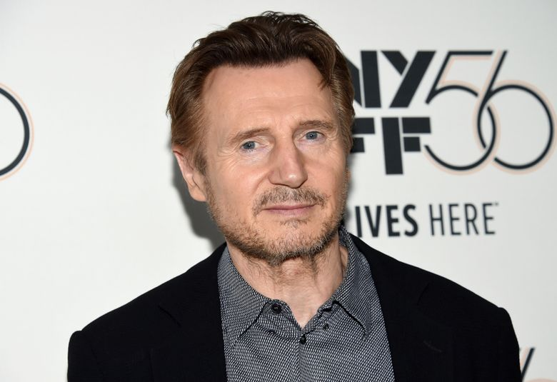 """FILE – This Oct. 4, 2018 file photo shows actor Liam Neeson at the premiere for """"The Ballad of Buster Scruggs"""" during the 56th New York Film Festival in New York.  Neeson is again apologizing for revealing that he wanted to kill a random black person nearly 40 years ago after a close friend had been raped by a black man. (Photo by Evan Agostini/Invision/AP, File)"""