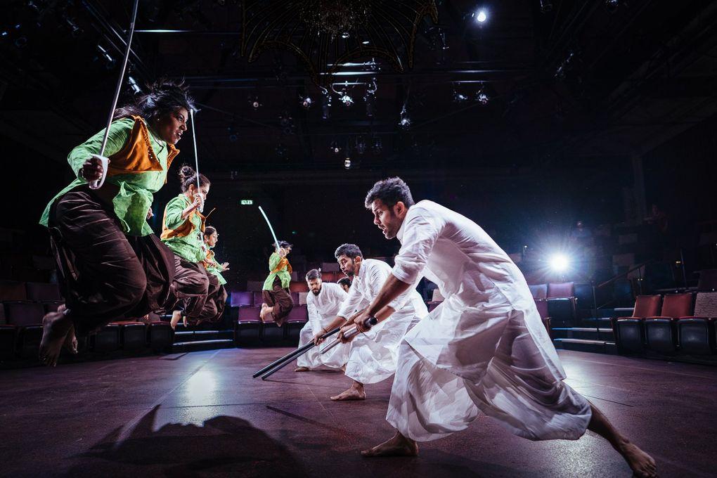 "The cast of Pratidhwani's ""Devi"" at ACT Theatre.  (Siddhartha Saha)"