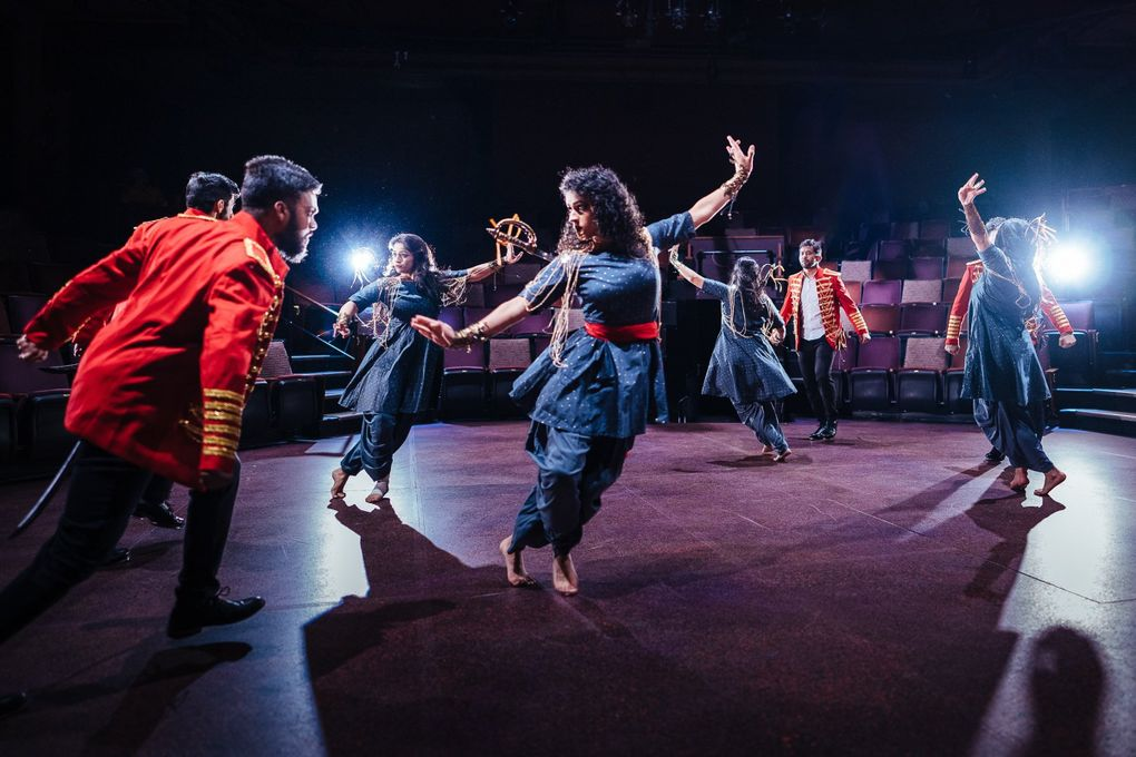 """The choreography of Pratidhwani's """"Devi"""" draws from a spectrum of Indian dances, but the aim is to have people unfamiliar with Indian classical dance also appreciate it. (Siddhartha Saha)"""
