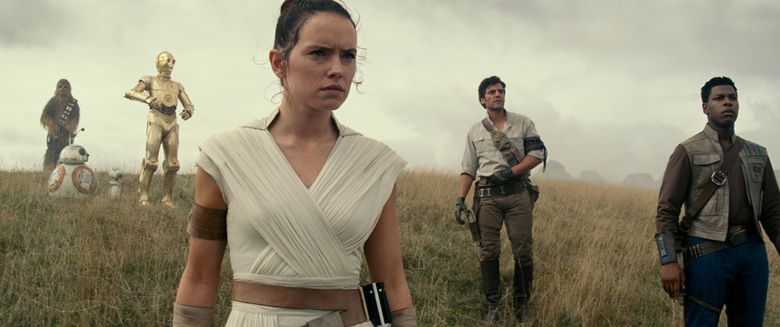 """Daisy Ridley as Rey in a scene from the ninth episode of the """"Star Wars"""" saga, """"Star Wars: The Rise of Skywalker."""" (Lucasfilm Ltd. via the Associated Press)"""