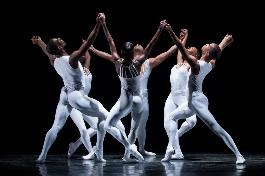 """The company of Dance Theatre of Harlem in """"Dancing on the Front Porch of Heaven."""" (Rachel Neville)"""