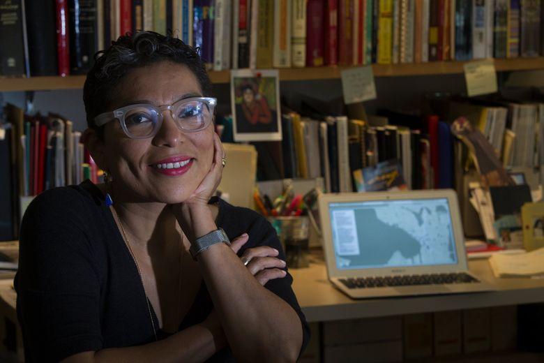 Washington Poet Laureate Claudia Castro Luna. (Ellen M. Banner / The Seattle Times, 2017)