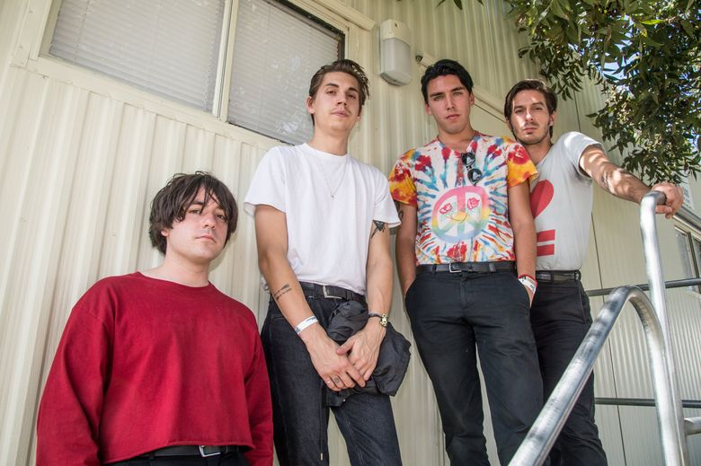 The indie-rock band Bad Suns includes, from left, Gavin Bennett, Miles Morris, Christo Bowman and Ray Libby. (Amy Harris / Invision / AP, 2016)