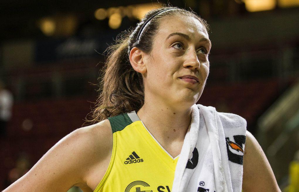 Seattle Storm forward Breanna Stewart. (Dean Rutz / The Seattle Times)