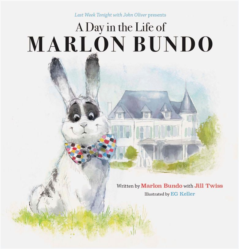 """This cover image released by Chronicle Books shows """"Last Week Tonight With John Oliver Presents A Day in the Life of Marlon Bundo,"""" written by Marlon Bundo with Jill Twiss and illustrated by EG Keller. The book was among the books most objected to in 2018 at the country's public libraries. The best-selling parody ranked No. 2 on the list of """"challenged"""" books compiled by the American Library Association, with some complaining about its gay-themed content and political viewpoint. (Chronicle Books via AP)"""