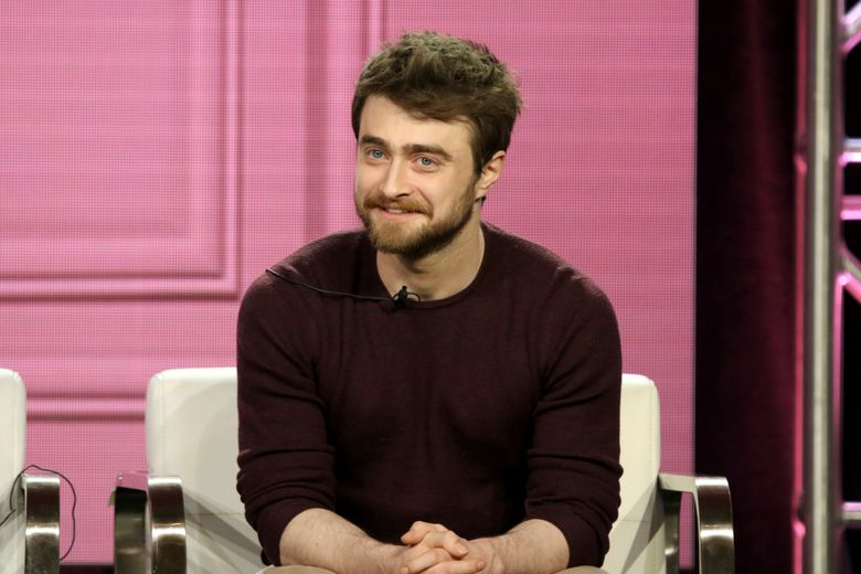 """FILE – In this Monday, Feb. 11, 2019 file photo, Daniel Radcliffe participates in the """"Miracle Workers"""" panel during the TBS presentation at the Television Critics Association Winter Press Tour at The Langham Huntington on in Pasadena, Calif. The Old Vic Theatre said Tuesday April 30, 2019, the former """"Harry Potter"""" star Daniel Radcliffe will appear alongside Alan Cumming in a production of Beckett's bleak comedy """"Endgame"""" that opens in February 2020. It will be performed along with Beckett's rarely produced short play """"Rough For Theatre II."""" (Photo by Willy Sanjuan/Invision/AP, File)"""