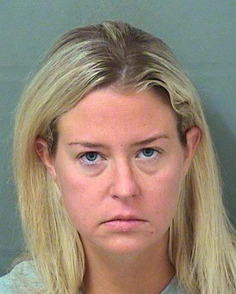 FILE – This file photo originally provided provided by the Palm Beach County Sheriff's Office shows Kate Major Lohan shortly after her arrest on a battery charge in Boca Raton, Fla., on July 27, 2018.  Lohan has pleaded guilty to disorderly conduct after Pennsylvania state police said she tried to commandeer an occupied bus and attacked its driver last Christmas. Lohan apologized while entering the third-degree misdemeanor plea Wednesday, April 17, 2019. Lehigh County prosecutors withdrew other charges including drunken driving. (Palm Beach County Sheriff's Office via AP)