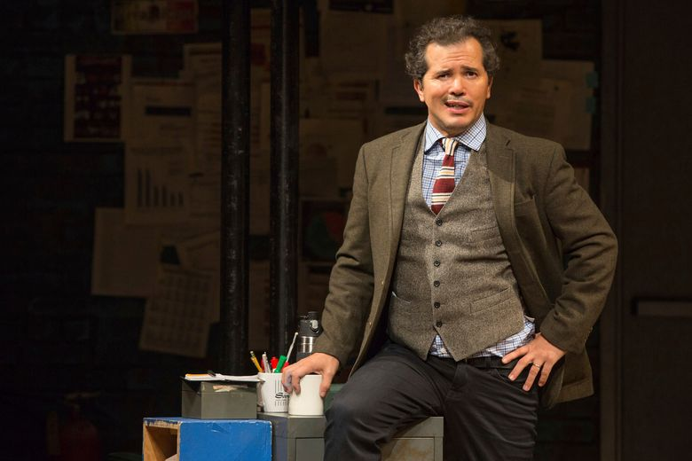 """This image released by Polk & Co. shows John Leguizamo during a performance of his one-man show """"Latin History for Morons,"""" which will kick off a 12-state U.S. tour with a two-night stand at the Apollo Theater in New York starting June 20. (Matthew Murphy/Polk & Co. via AP)"""