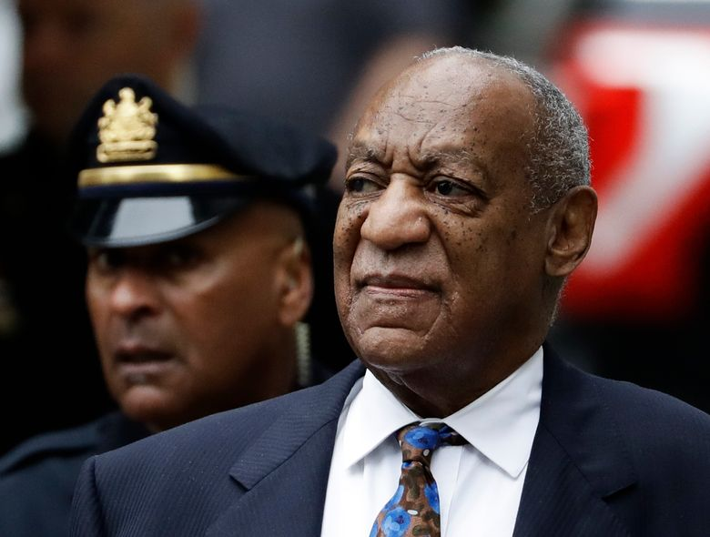 """FILE – In this Sept. 24, 2018 file photo Bill Cosby arrives for his sentencing hearing at the Montgomery County Courthouse in Norristown, Pa. The Imprisoned actor says his insurance company is settling another lawsuit filed by a woman accuser without his permission.  In a statement, Cosby accuses American International Group Inc. of """"egregious behavior.""""  The 81-year-old is serving a three- to 10-year prison term, after a jury found he sexually assaulted a woman at his home in 2004.   (AP Photo/Matt Slocum, File)"""