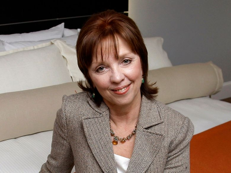 """FILE – This Feb. 13, 2009 file photo shows novelist Nora Roberts posing for a portrait in Boonsboro, Md. Roberts is suing a Brazilian writer for copyright infringement, alleging that Cristiane Serruya has committed """"multi-plagiarism."""" In papers filed Wednesday, April 24, 2019, in Rio de Janeiro, Roberts alleged that Serruya's books showed an extraordinary level of verbatim lifting and close paraphrasing. Roberts would donate any damages from the suit to a non-profit literacy program in Brazil. (AP Photo/Rob Carr, File)"""