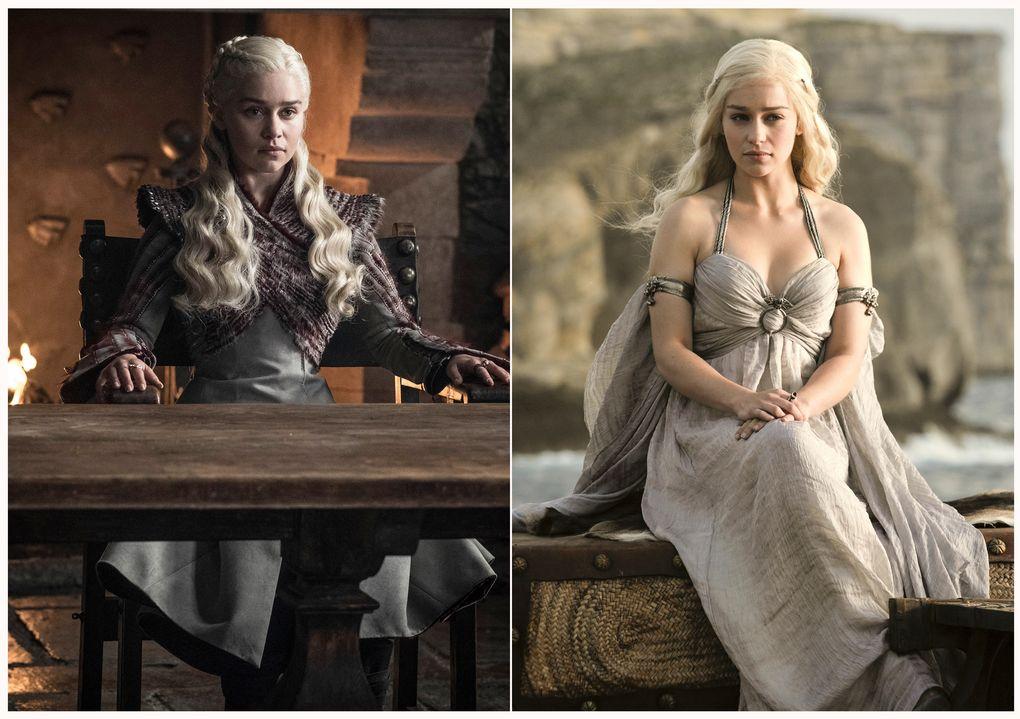 "Emilia Clarke as Daenerys Targaryen on ""Game of Thrones."" (HBO via The Associated Press)"