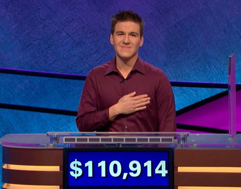"""James Holzhauer, a 34-year-old professional sports gambler from Las Vegas, has won more than $1.7 million on """"Jeopardy!"""".  (Jeopardy Productions via AP, file)"""