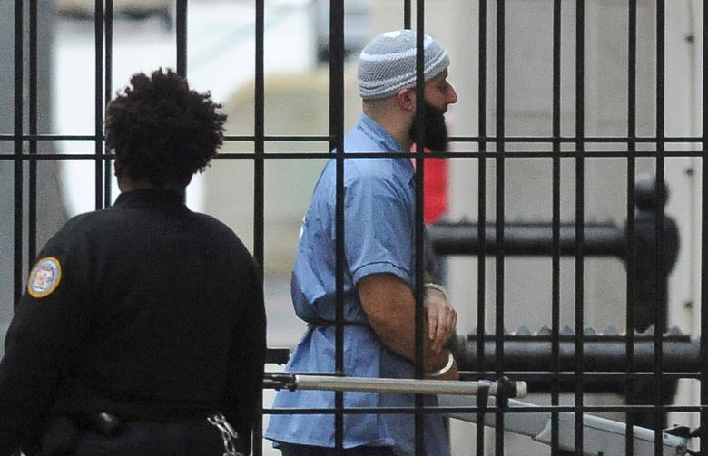 """FILE – In this Feb. 3, 2016 file photo, Adnan Syed enters Courthouse East prior to a hearing in Baltimore. Maryland's highest court won't reconsider its rejection of a new trial for a man whose murder conviction was chronicled in the hit podcast """"Serial"""" and an HBO documentary series. The defense attorney for Adnan Syed had filed a reconsideration motion with the Maryland Court of Appeals over its decision to reject a new trial. Judges on the appeals court denied that motion on Friday, April 19, 2019. Syed's defense can file a petition with the U.S. Supreme Court asking it to review the decision in Maryland.  (Barbara Haddock Taylor/The Baltimore Sun via AP, File)"""