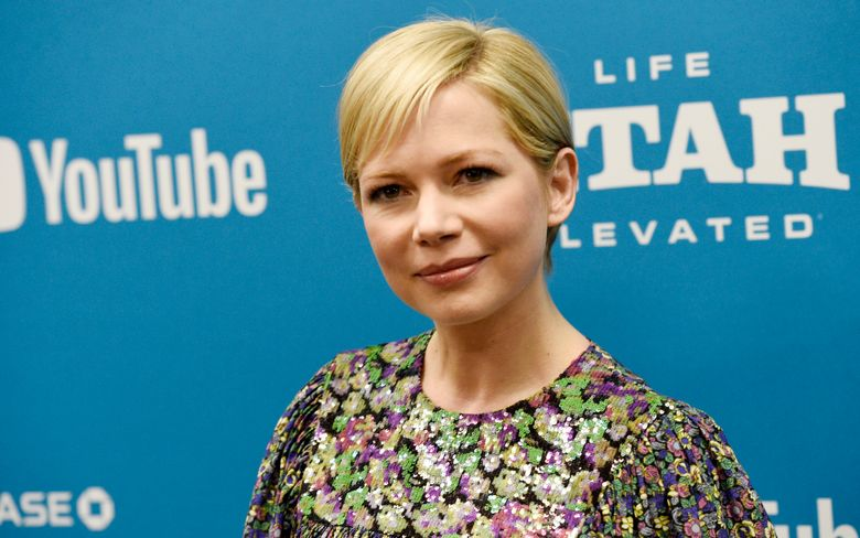 """FILE – In this Jan. 24, 2019, file photo, Michelle Williams, a cast member in """"After the Wedding,"""" poses at the premiere of the film on the opening night of the 2019 Sundance Film Festival in Park City, Utah. Williams, who has seen first-hand the disparity in men and women's pay, joined lawmakers and activists Tuesday, April 2, 2019, in the Capitol Building to support the principle of equal pay for equal work.  (Photo by Chris Pizzello/Invision/AP, File)"""