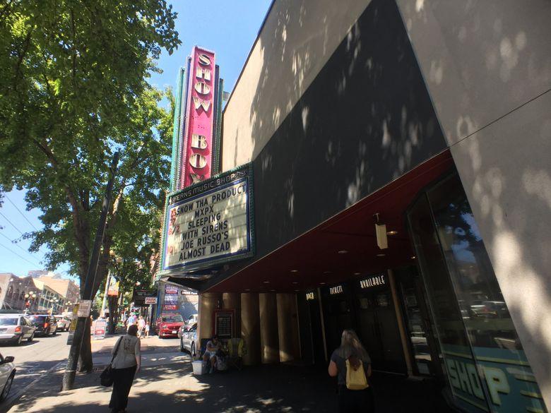 The Showbox music hall. (Steve Ringman / The Seattle Times, 2018)