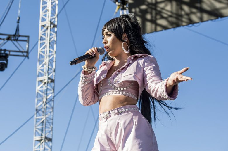 Kali Uchis, at the Coachella Music & Arts Festival in 2018, co-headlines a tour coming Monday, May 20, to WaMu Theater (Amy Harris / Invision / AP)