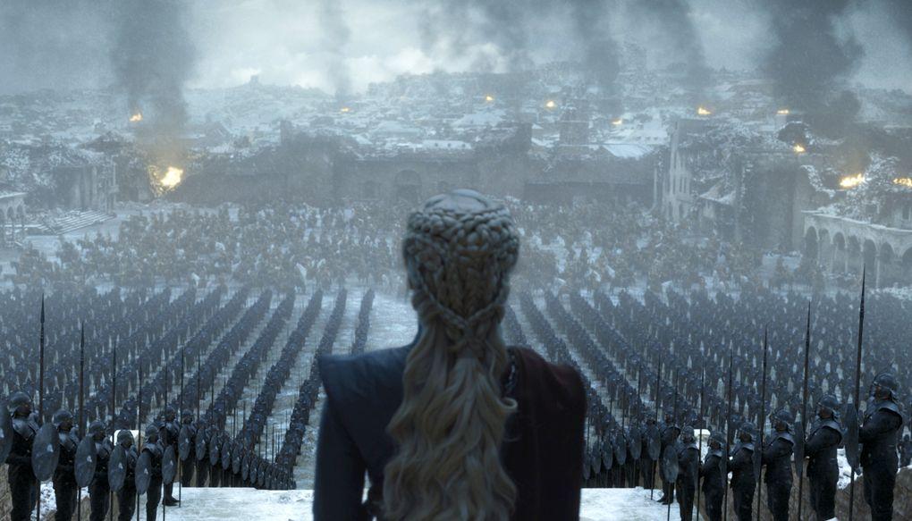 "Emilia Clarke, as Daenerys Targaryen, in a scene from the ""Game of Thrones"" series finale. (HBO via AP)"
