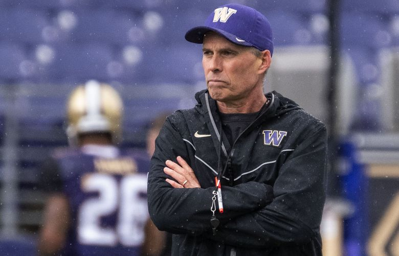 Washington coach Chris Petersen. (Dean Rutz / The Seattle Times)