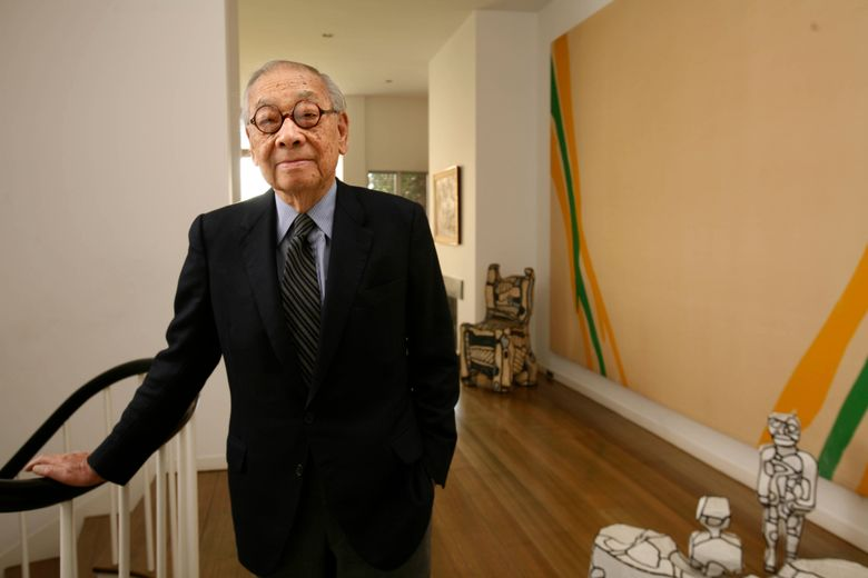 Architect I.M. Pei at home in New York in December 2008. Pei, the Chinese-born American architect who began his long career working for a New York real-estate developer and ended it as one of the most revered architects in the world, died at 102 in May 2019. (Tony Cenicola / The New York Times)