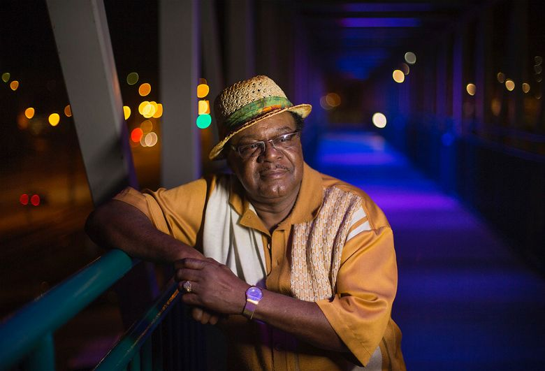 """This 2013 image released by Old Bridge Media shows  John Gary Williams posing in downtown Memphis, Tenn. Williams, the lead singer for the R&B vocal group The Mad Lads who sung """"I Want Someone"""" and """"Don't Have to Shop Around,"""" has died at the age of 73. Filmmaker John Hubbell, who is working on a documentary about Williams, said on Tuesday, May 28, 2019, that Williams died at his home in Memphis. The exact time and cause of his death were not known.(Lance Murphey/Old Bridge Media LLC via AP)"""