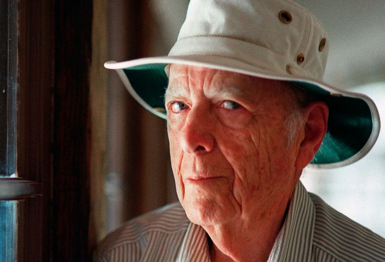 FILE – This May 15, 2000, file photo, shows Pulitzer Prize-winning author Herman Wouk in Palm Springs, Calif. Wouk died in his sleep early Friday, May 17, 2019, according to his literary agent Amy Rennert. He was 103. (AP Photo/Douglas L. Benc Jr., File)