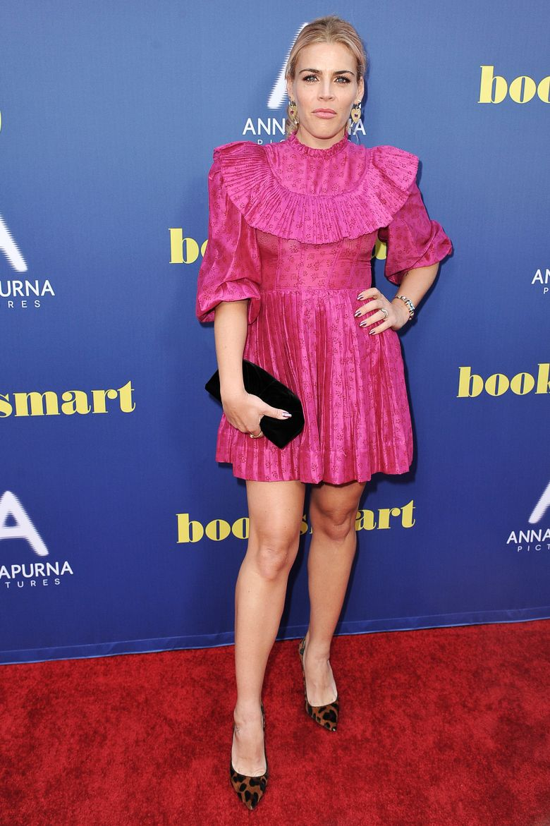 """Busy Philipps attends a special screening of """"Booksmart,"""" at the Theatre at Ace Hotel, Monday, May 13, 2019, in Los Angeles. (Photo by Richard Shotwell/Invision/AP)"""