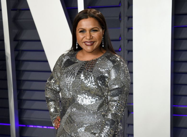 FILE – This Feb. 24, 2019 file photo shows Mindy Kaling at the Vanity Fair Oscar Party in Beverly Hills, Calif. Kaling plans to release a third collection of essays in the summer 2020. Amazon announced Tuesday, May 28, that topics will include Kaling's experience as a single mother and working with Reese Witherspoon and Oprah Winfrey. (Photo by Evan Agostini/Invision/AP, File)