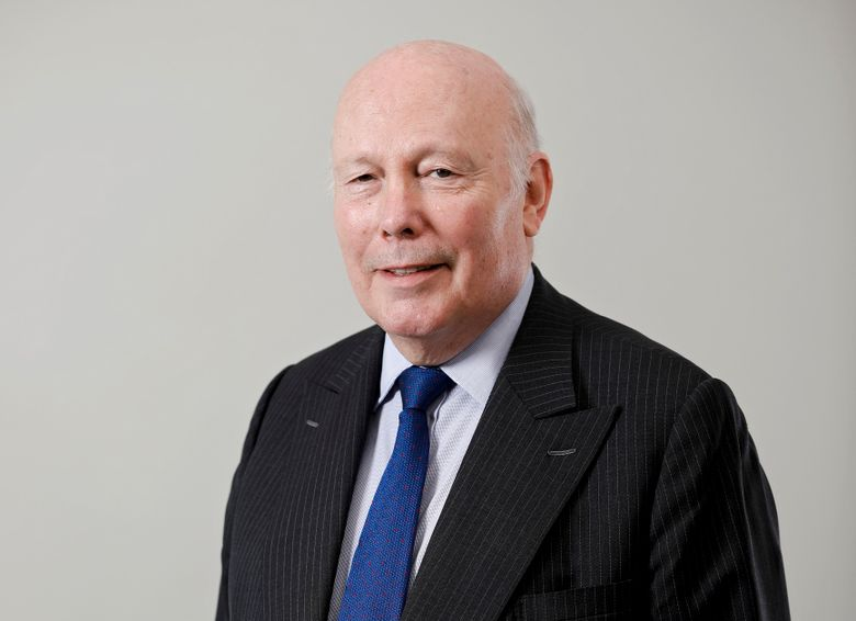 """This March 26, 2019 photo shows Julian Fellowes posing for a portrait in New York. A long-planned series from """"Downton Abbey"""" creator Julian Fellowes has a new home. HBO said Thursday it will air the drama, """"The Gilded Age,"""" which originally was to be on NBC. (Photo by Brian Ach/Invision/AP)"""