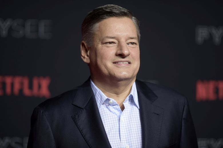 FILE – This May 6, 2018 file photo shows Ted Sarandos at the 2018 Netflix FYSee Kick-Off Event in Los Angeles.  Sarandos says the streaming giant will rethink their investment in Georgia if the state's recently passed abortion law goes into effect. He made his remarks in a statement Tuesday, May 28, 2019, first reported by Variety. They constitute the strongest language yet from any leading Hollywood studio since Georgia Gov. Brian Kemp signed into law a ban on virtually all abortions. (Photo by Richard Shotwell/Invision/AP, File)