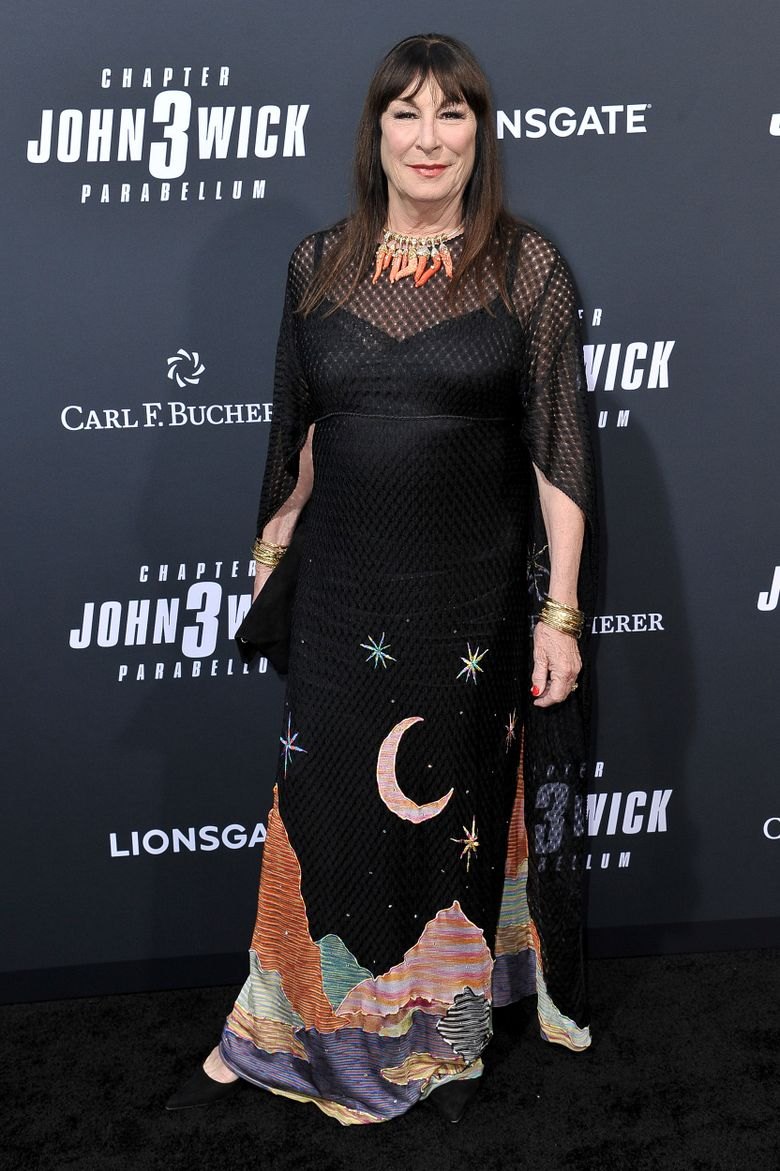 """Anjelica Huston attends a special screening of """"John Wick: Chapter 3 – Parabellum"""" at the TCL Chinese Theatre on Wednesday, May 15, 2019, in Los Angeles. (Photo by Richard Shotwell/Invision/AP)"""