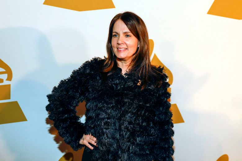FILE – In this Jan. 26, 2017 file photo, singer-songwriter Lori McKenna arrives at the nominee party for the 59th annual Grammy Awards at Loews Vanderbilt Hotel in Nashville, Tenn. In contrast to other country music award shows, the entertainer of the year nominees at this year's Americana Music Association's Honors and Awards are all female: Brandi Carlile, Rhiannon Giddens, Kacey Musgraves and Mavis Staples. In the nominations announced Tuesday, May 14, 2019, McKenna is nominated four times, including for album of the year and three times in the song of the year category as both an artist and a songwriter.  (Photo by Al Wagner/Invision/AP, File)