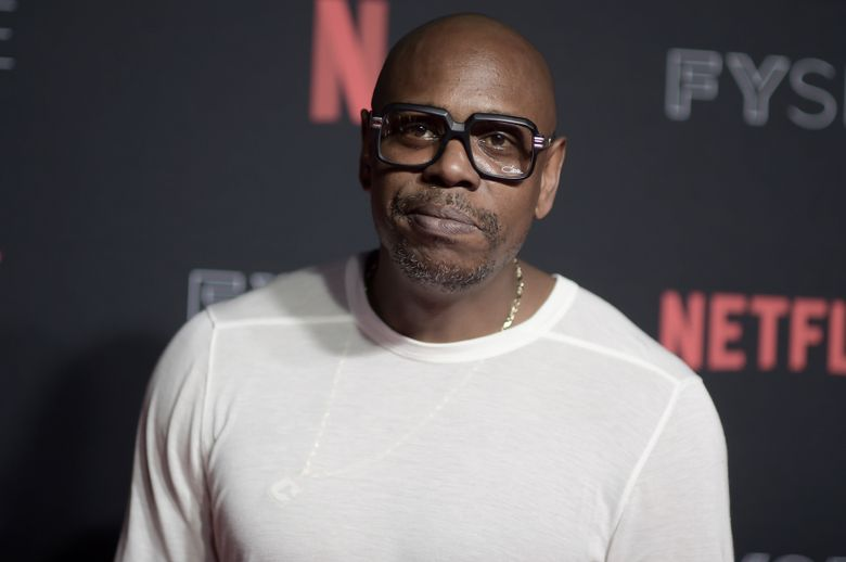 """FILE – in this May 6, 2018, file photo, Dave Chappelle attends the 2018 Netflix FYSee Kick-Off Event at Raleigh Studios Hollywood in Los Angeles. Chappelle has been chosen to receive this year's Mark Twain Prize for American Humor. The 45-year-old Chappelle shot to international stardom through his program """"Chappelle's Show,"""" which gleefully skewered racial stereotypes and hot-button societal issues. (Photo by Richard Shotwell/Invision/AP)"""