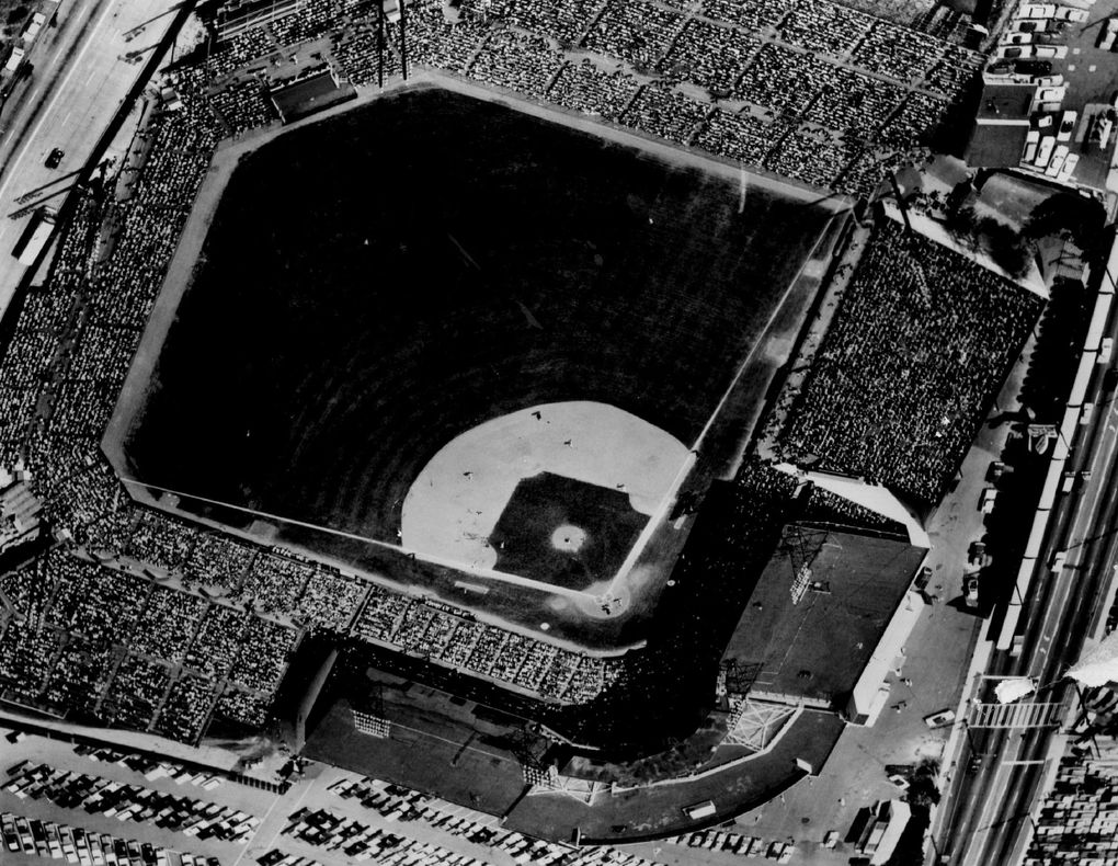Nearly 24,000 fans were on hand to see the Seattle Pilots play the New York Yankees in 1969, the biggest crowd of the season in the small, but intimate Sicks' Stadium. (Seattle Times archives)
