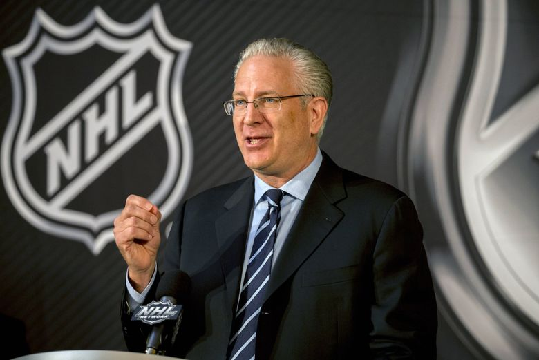 Seattle Hockey Partners President and CEO Tod Leiweke speaks after the NHL Board of Governors named Seattle as the league's 32nd franchise Dec. 4, 2018, in Sea Island, Ga. The Seattle NHL group has applied for a minor-league American Hockey League franchise in Palm Springs, Calif. (Stephen B. Morton / The Associated Press)