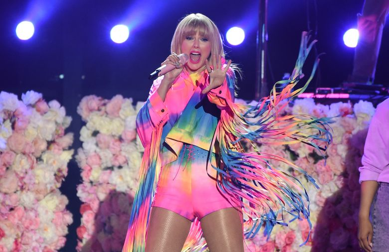 FILE – In a Saturday, June 1, 2019 file photo, Taylor Swift performs at Wango Tango, at Dignity Health Sports Park in Carson, Calif. In a scathing tumblr post Sunday, June 30, the pop superstar writes she is sad and grossed out that her music catalog now belongs to Scooter Braun who she accuses of subjecting her to years of incessant and manipulative bullying. Braun's Ithaca Holdings announced Sunday that it is acquiring Big Machine Label Group which released all of Swift's studio albums and owns her masters.(Photo by Chris Pizzello/Invision/AP, File)