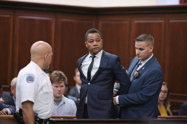 FILE – In this June 13, 2019, file photo, Cuba Gooding Jr. appears in criminal court in New York. Gooding's lawyer on Monday, June 24, urged a judge to dismiss the forcible touching case that landed the actor in handcuffs two weeks ago, arguing that witnesses and security video contradict a woman's allegations that he groped her at a New York City night spot. (Alex Tabak/The Daily News via AP, Pool, File)