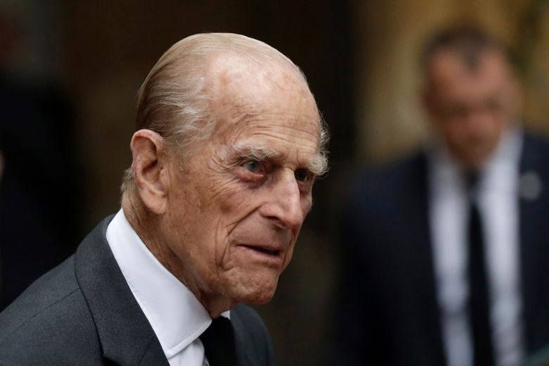 """FILE – In this Tuesday, June 27, 2017 file photo, Britain's Prince Philip leaves St Paul's Church in Knightsbridge, London. Senior royals are congratulating Prince Philip as the husband of Queen Elizabeth II celebrates his 98th birthday in private. In a tweet Monday June 10, 2019, the royal family wished Philip """"a very happy"""" birthday. (AP Photo/Matt Dunham, file)"""
