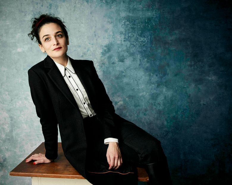 """FILE – In this Jan. 26., 2019 file photo, Jenny Slate poses for a portrait to promote the film """"The Sunlit Night"""" at the Salesforce Music Lodge during the Sundance Film Festival in Park City, Utah.  Slate will speak at this month's graduation ceremony for Cuttyhunk Elementary School, a one-room schoolhouse on the island that has a year-round population of around 12. Slate's audience will be Gwen Lynch, this year's lone graduate of the school that goes up to 8th grade, her family and other Cuttyhunk residents. (Photo by Taylor Jewell/Invision/AP, File)"""