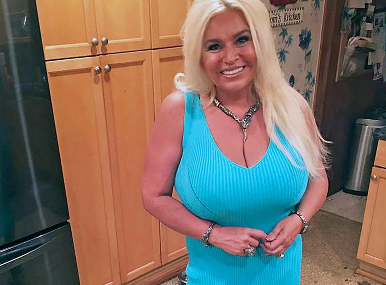 """FILE – This 2017 photo provided by Mona Wood-Sword shows Beth Chapman in Honolulu. Chapman, the wife and co-star of """"Dog the Bounty Hunter"""" reality TV star Duane """"Dog"""" Chapman, died on Wednesday, June 26, 2019.  Wood-Sword, a family spokeswoman, said in a statement that Chapman died early Wednesday at Queen's Medical Center in Honolulu after an almost 2-year battle with cancer. She was 51. (Mona Wood-Sword via AP, File)"""