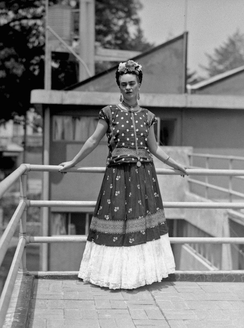 FILE – In this April 14, 1939 file photo, painter and surrealist Frida Kahlo, who was the wife of noted Mexican muralist Diego Rivera, poses at her home in Mexico City. Mexico's National Sound Library said Thursday, June 13, 2019, that it has discovered what could be the first known audio recording of Frida Kahlo's voice. (AP Photo/File)