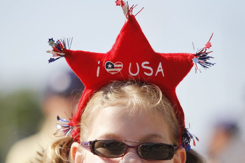 Fourth of July events bring out the red, white and blue. (John Ehlke / The Associated Press, 2013)