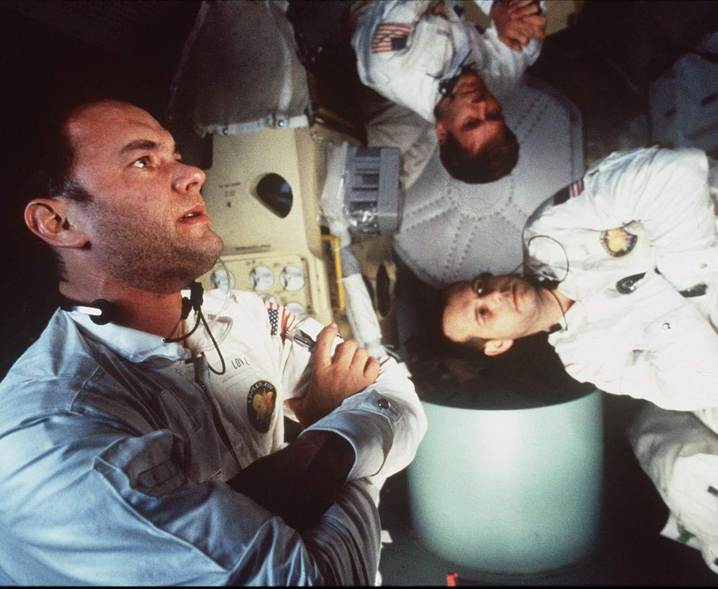 """Tom Hanks, left, Kevin Bacon and Bill Paxton in """"Apollo 13."""" (Ron Batzdorff / Universal Pictures)"""