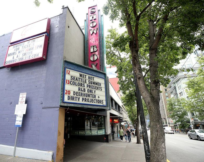 The Showbox, first opened in 1939, has hosted music groups from the jazz age to the grunge era to today's pop stars. (Greg Gilbert / The Seattle Times)