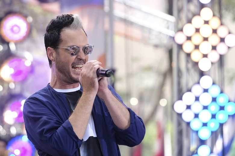 Michael Fitzpatrick from the band Fitz and the Tantrums performs on NBC's Today show at Rockefeller Plaza on Friday, July 28, 2017, in New York. (Photo by Charles Sykes/Invision/AP) (Charles Sykes / Charles Sykes/Invision/AP)