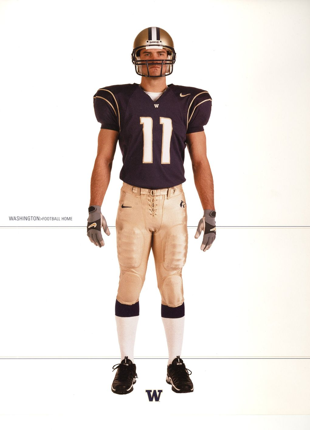 A closer look at an older Nike uniform combination. (Courtesy University of Washington )