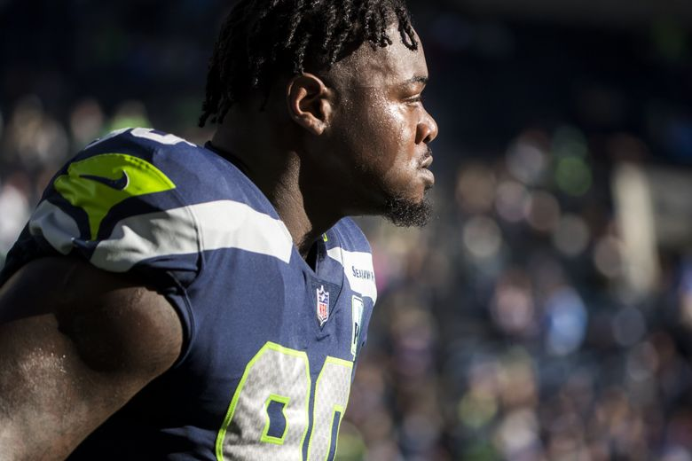 Seahawks defensive tackle Jarran Reed in November 2018. (Bettina Hansen / The Seattle Times)