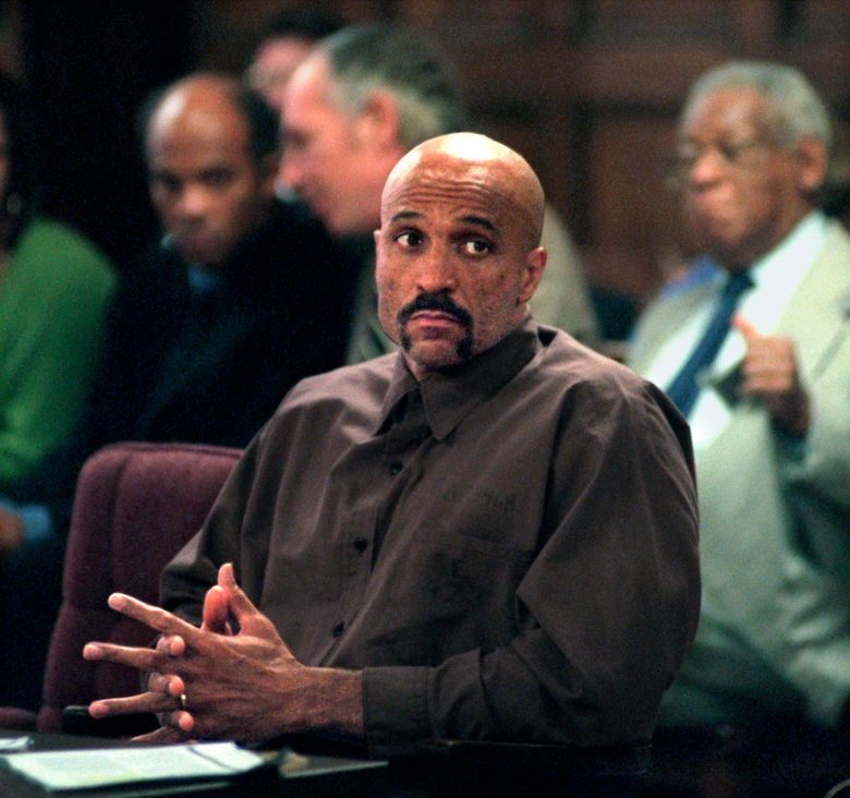 """FILE – In this October 1998 file photo Robert Wideman sits in Judge McGregor's court in Pittsburgh. Gov. Tom Wolf has commuted Wideman's sentence, Monday, July 1, 2019, for a 1975 killing, clearing the way for his release. Wideman, the brother of prize-winning author John Edgar Wideman, was sentenced to life without parole in a case that was the subject of his older brother's 1984 acclaimed memoir, """"Brothers and Keepers."""" The book was a finalist for a National Book Critics Circle award. (Andy Starnes/Pittsburgh Post-Gazette via AP, file)"""