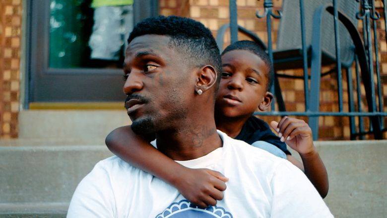 """This image released by MTV Documentary Films shows Bruce Franks Jr. in a scene from the documentary """"St. Louis Superman,"""" one of two films that will be released by MTV's new documentary division. (MTV via AP)"""