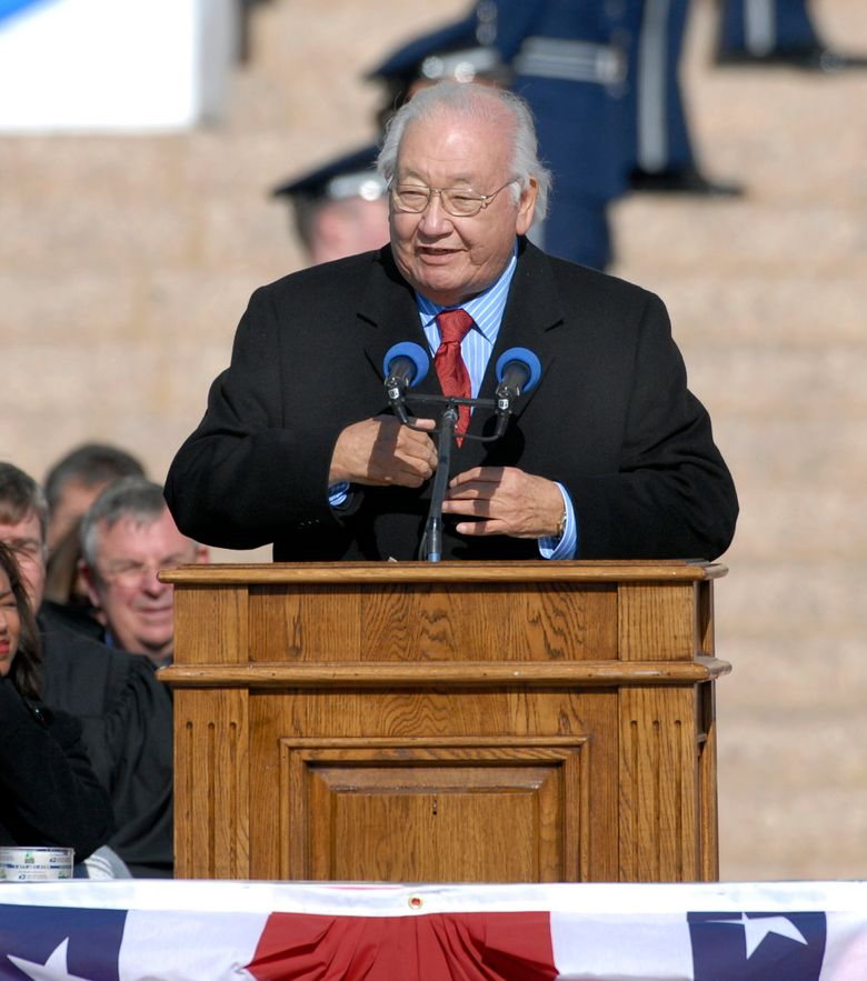 Pulitzer Prize-winning writer N. Scott Momaday, shown in 2007, has been selected by Dayton Literary Peace Prize for the Richard C. Holbrooke Distinguished Achievement Award. (Jerry Laizure / The Norman Transcript via AP, file)